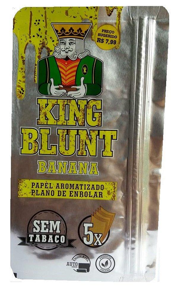 King Blunt sabor Banana Sem Tabaco