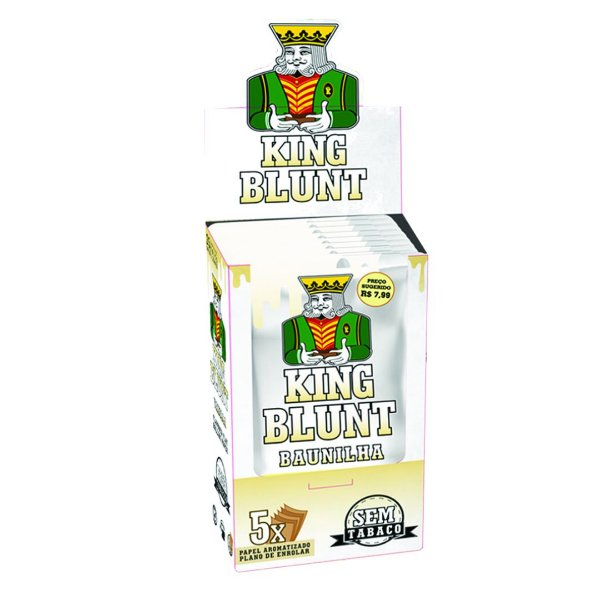 Caixa King Blunt Baunilha Sem Tabaco - 25 pacotes
