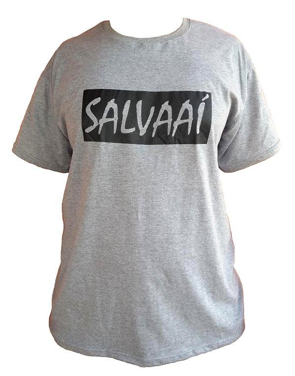 Camiseta Salva Aí - Cinza Mescla