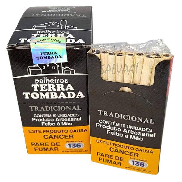 Cigarrilha de Palha Terra Tombada Tradicional - Caixa com 10 maços