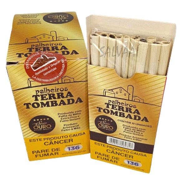 Cigarrilha de Palha Terra Tombada Ouro - Caixa com 10 maços