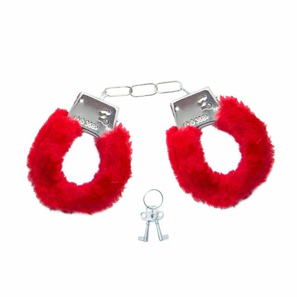 Algemas de Metal Vermelha Hand Cuffs