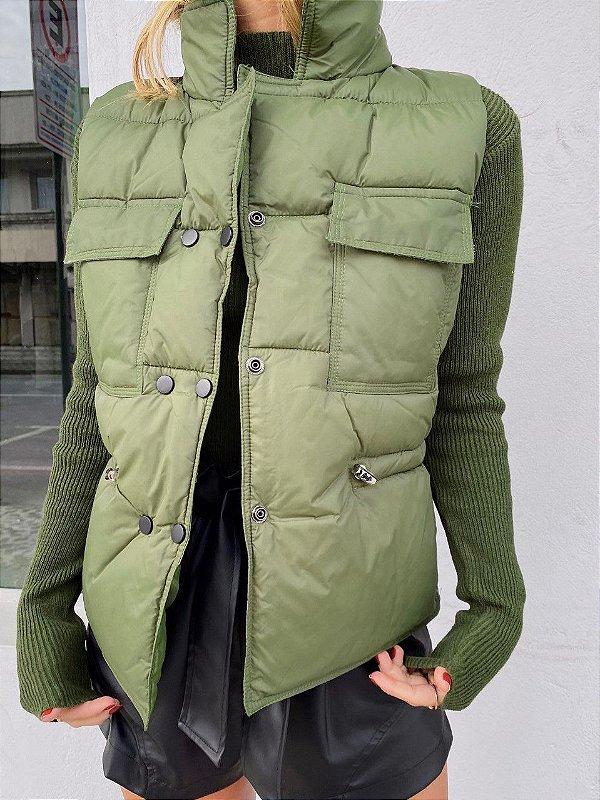 Colete Thayla Nylon Verde