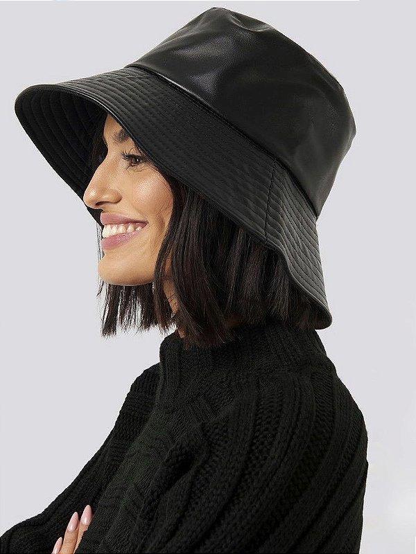 Bucket Hat Couro