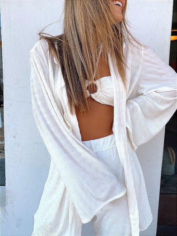 Maxi Camisa Stella Branco