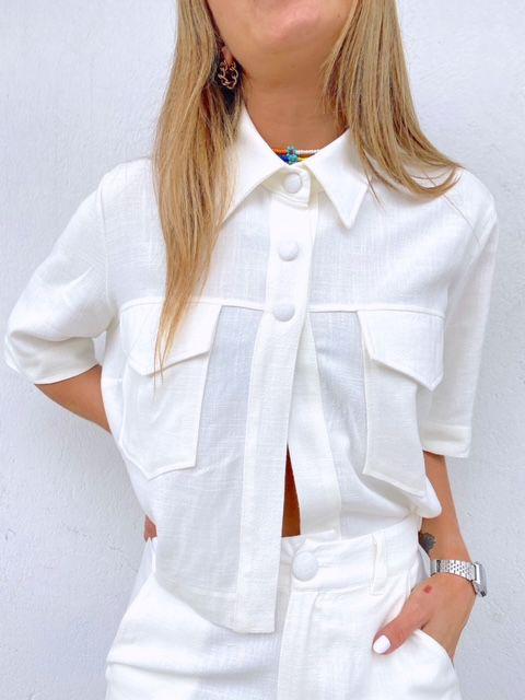 Camisa Curta Marcela Branca