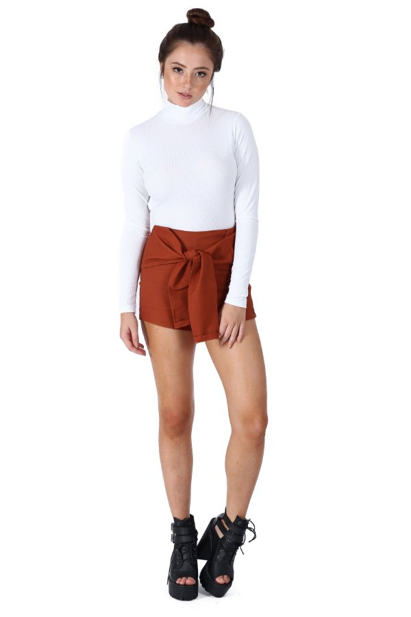 Shorts Bengalin Amarrado Ferrugem