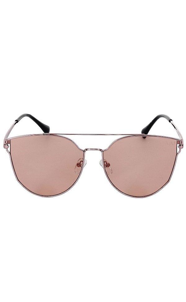 Óculos Lente Clara Rosé