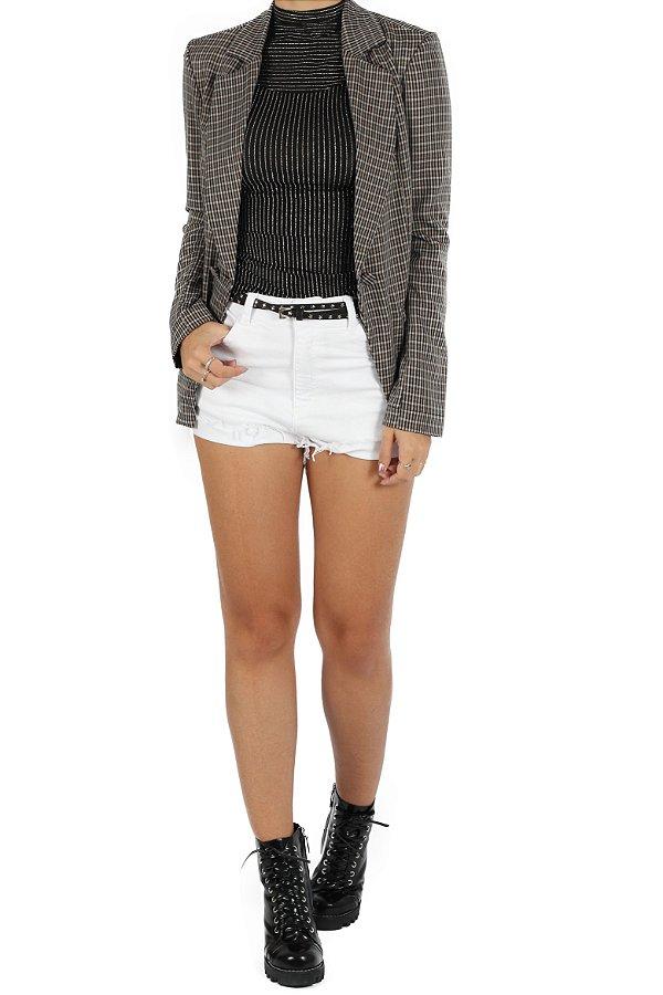 Blazer Stella Xadrez Mini