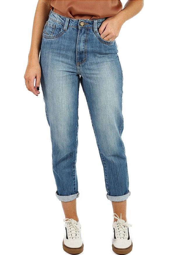 Calça Mom Jeans Clear