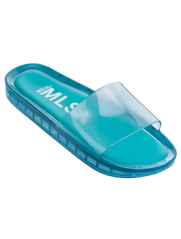 Melissa Beach Slide Transparente Azul