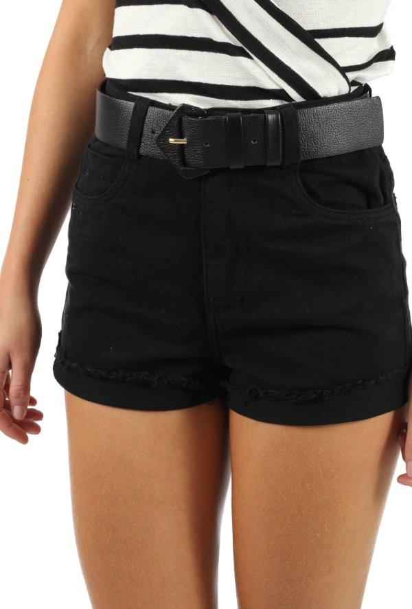 Shorts Mom Sarja Preto