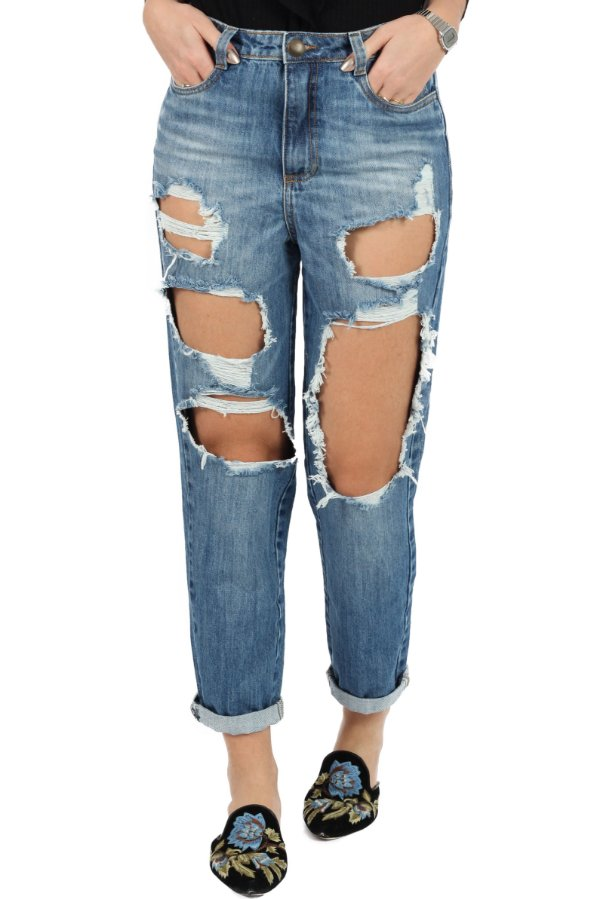 Calça Mom's Jeans Destroyed