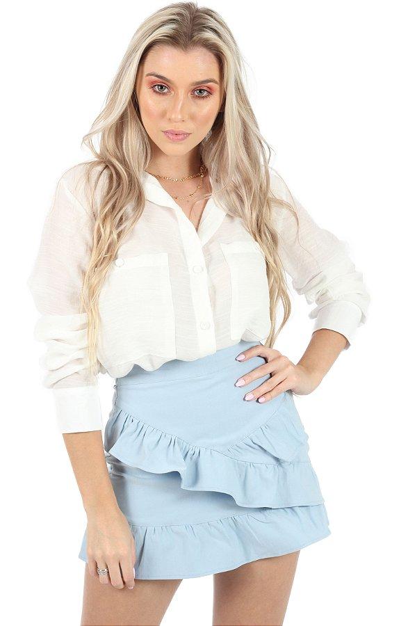 Shorts Saia Barbie Azul