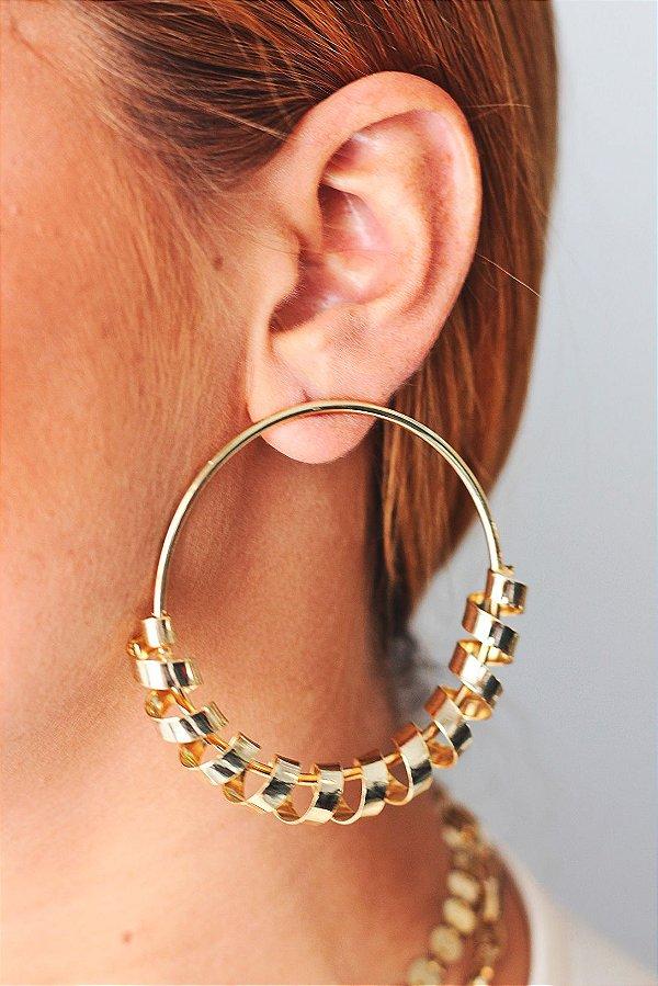 Brinco Dourado Espiral