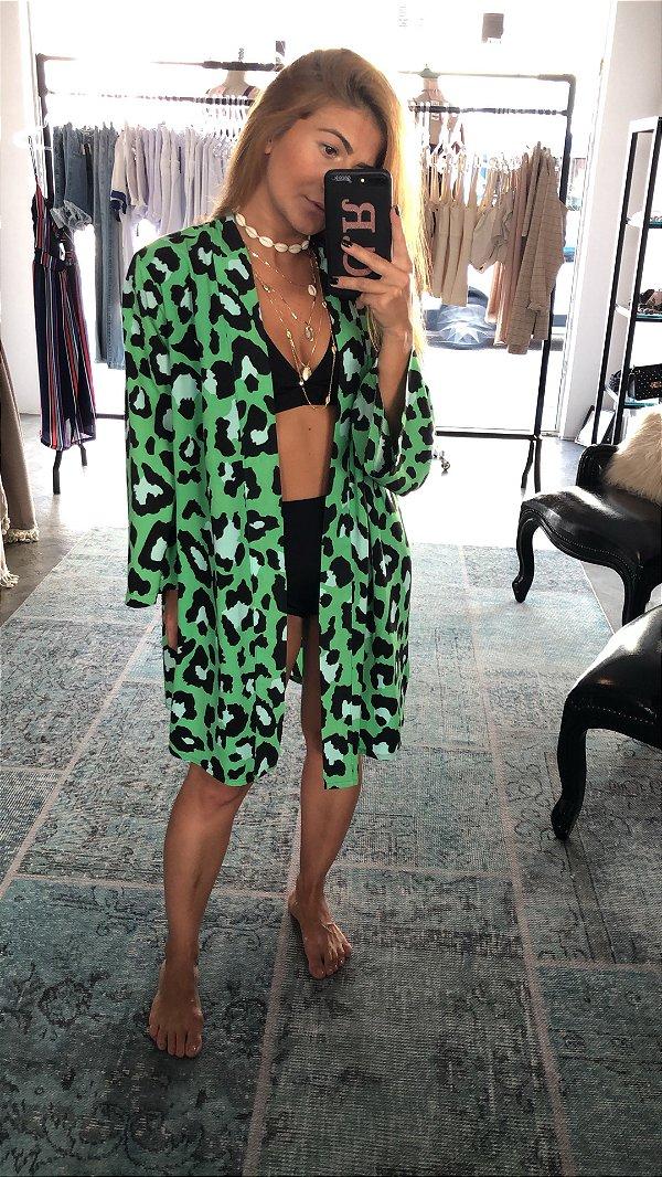 Kimono Verde Onça