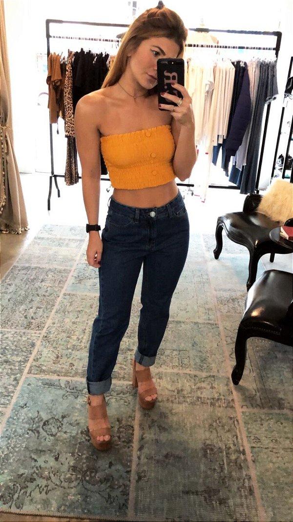 Calça Jeans Mom Dark