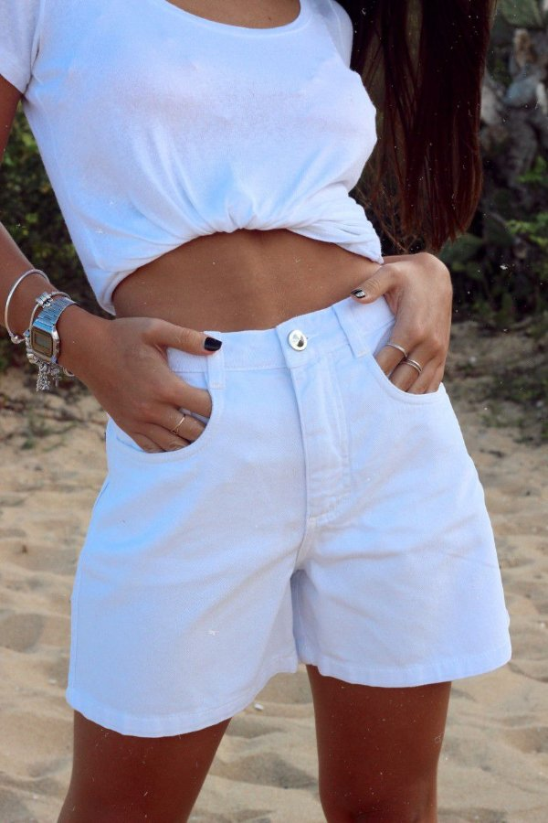 Shorts Vintage Liv Branco