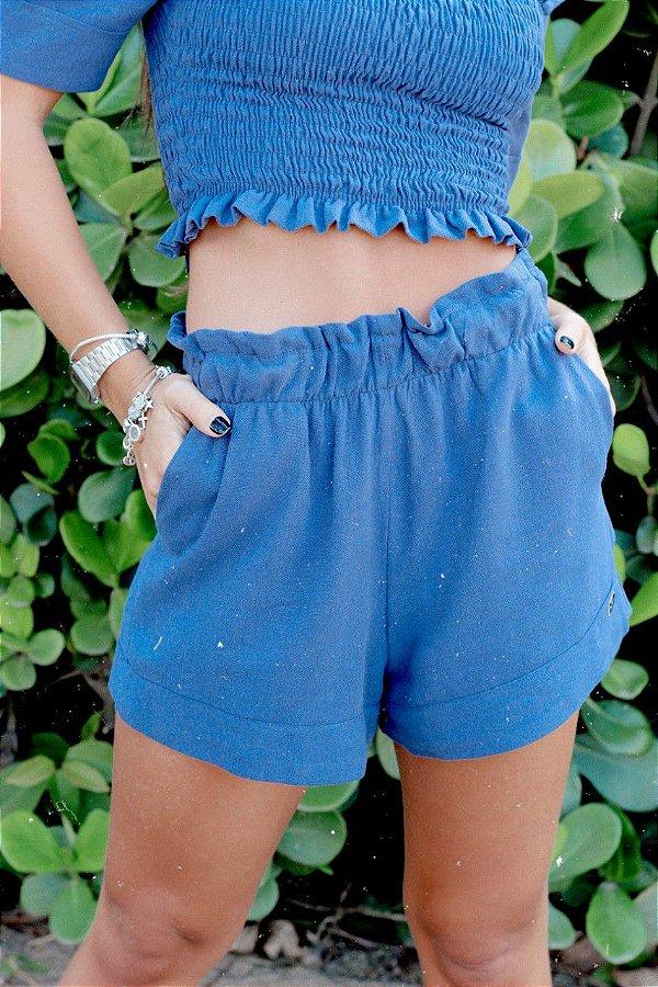 Shorts Linhão J-Lo Azul Jeans