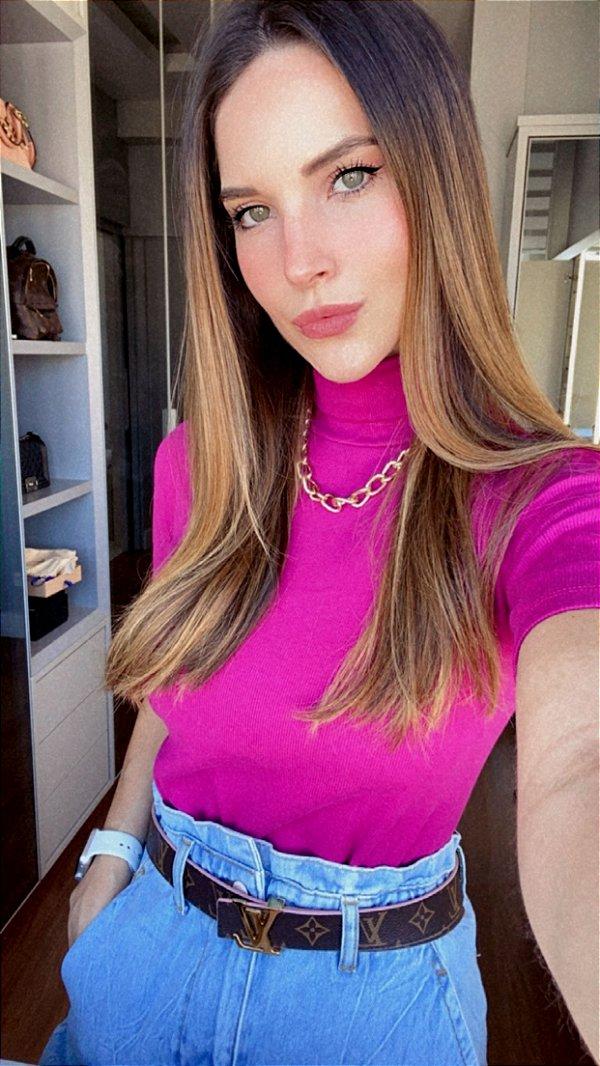 Blusa Barbie Rib Golão Rosa