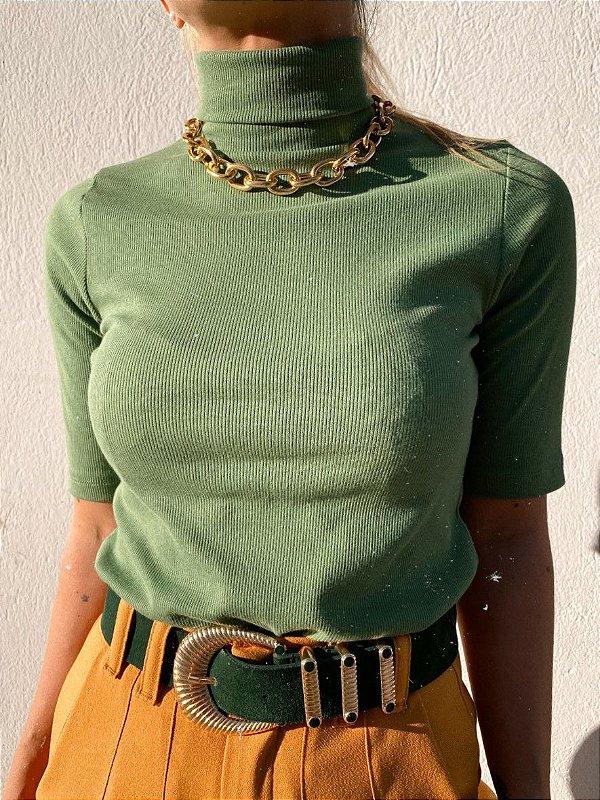 Blusa Barbie Rib Golão Verde