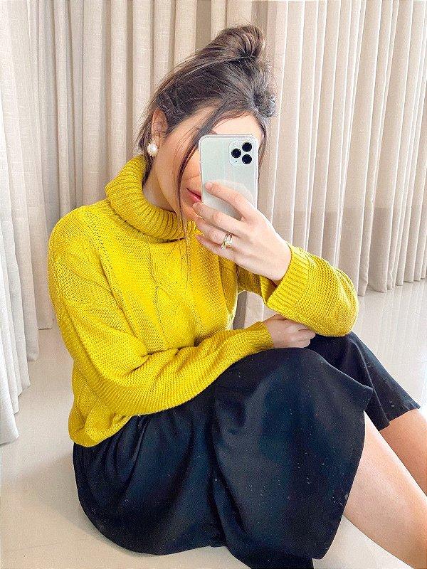 Tricot Maxi Golão Amarelo