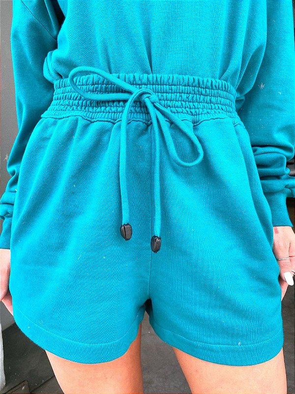 Shorts Moletom Stone Esmeralda