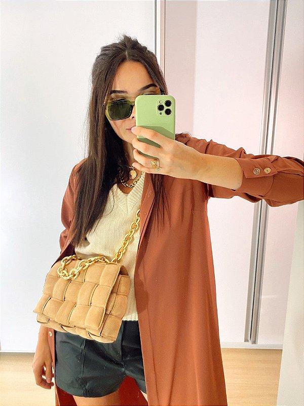 Vestido Camisa Luciana Terracota