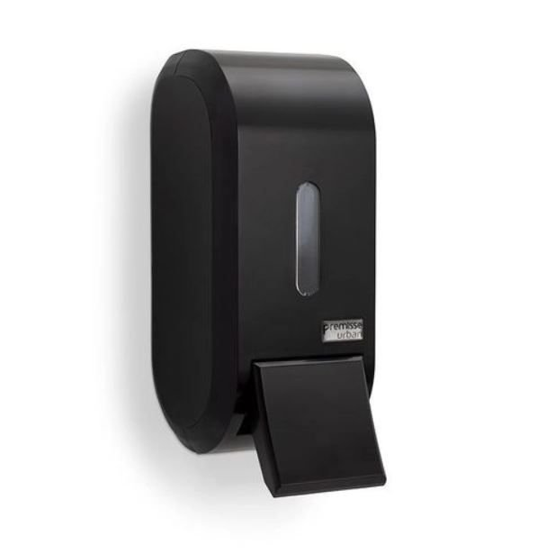 Premisse Dispenser Compacto c/ Reservatório p/ Sabonete Líquido Dark 400ml