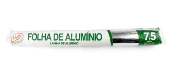 Mello Clean Papel Alumínio  45 cm x 7,5 m