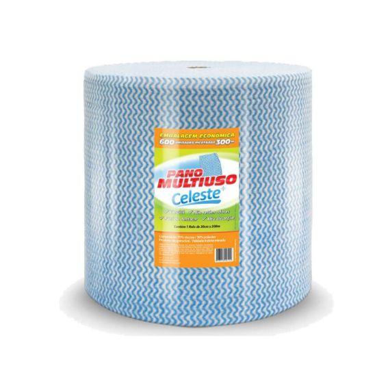Celeste Pano Multiuso Azul c/ 600 panos