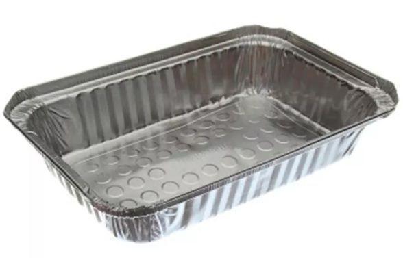 Mello Marmitex de Alumínio Bandeja 1000 ml c/ Tampa de CA