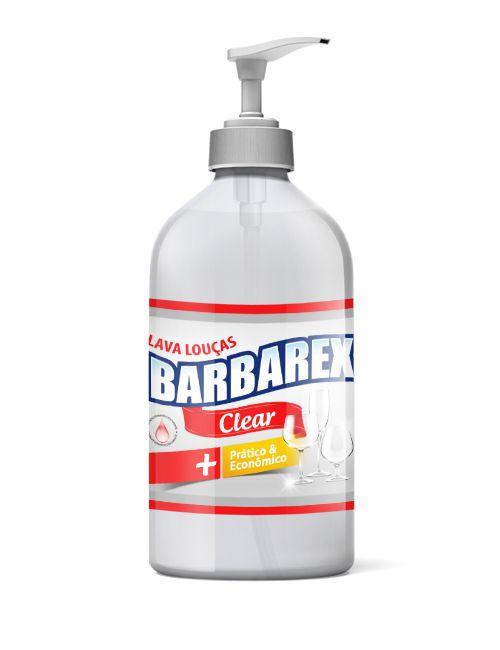 Barbarex Lava Louças Clear 1L c/ Bomba