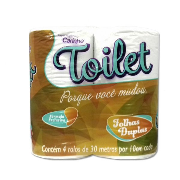 Toilet Papel Higiênico Folha Dupla 30 M Pct c/ 04