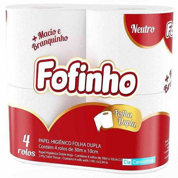 Fofinho Papel Higiênico Folha Dupla 30 m c/ 04.
