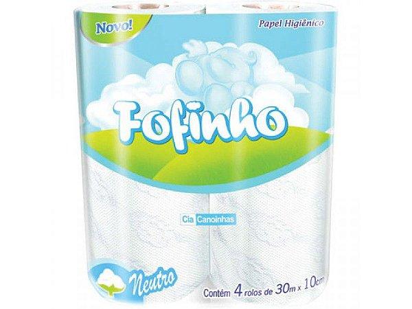 Fofinho Papel Higiênico Folha Simples 30 m c/ 04 un.