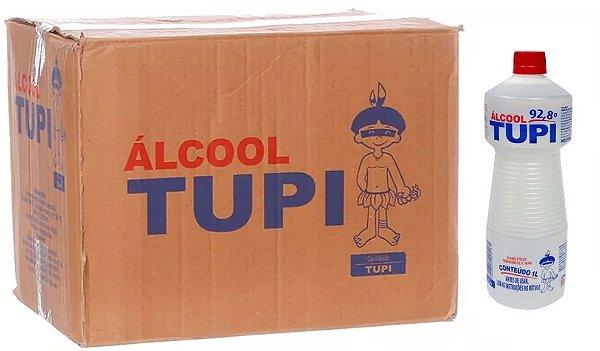Tupi Caixa Álcool 92° 1 L c/ 12 un.