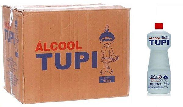 Tupi Caixa Álcool Perfumado 46,2° Talco 1L c/ 12 un.