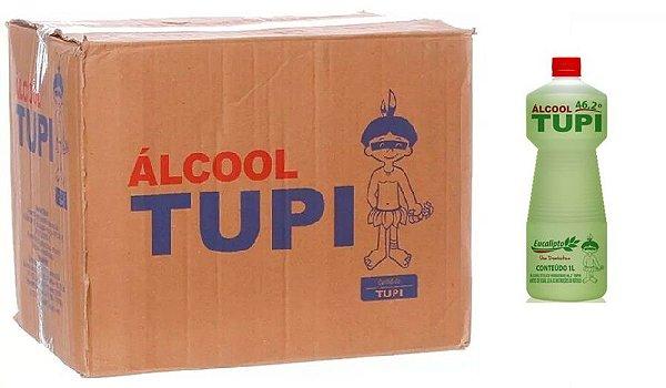 Tupi Caixa Álcool Perfumado 46,2° Eucalipto 1L c/ 12 un.