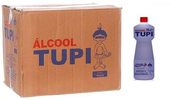 Tupi Caixa Álcool Perfumado 46,2° Lavanda 1L c/ 12 un.