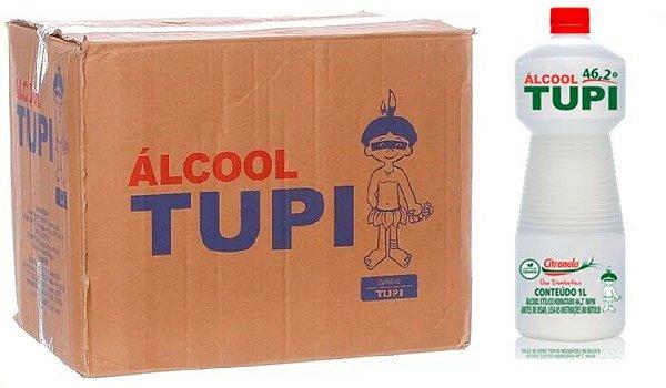 Tupi Caixa Álcool Perfumado 46,2° Citronela 1L c/ 12 un.