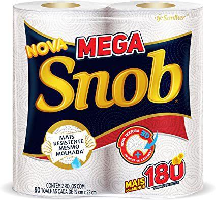 Snob Papel Toalha Rolo mega c/2 un.