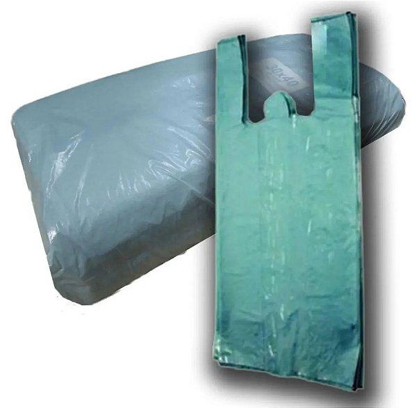 Sacola Plástica reciclada verde 30x40 c/ 4kg