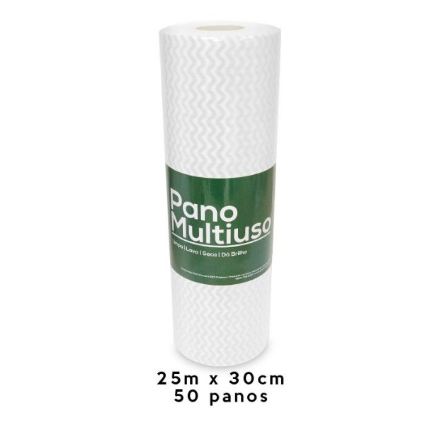 Nobre Rolo Pano Multiuso Branco 25m x 30 cm