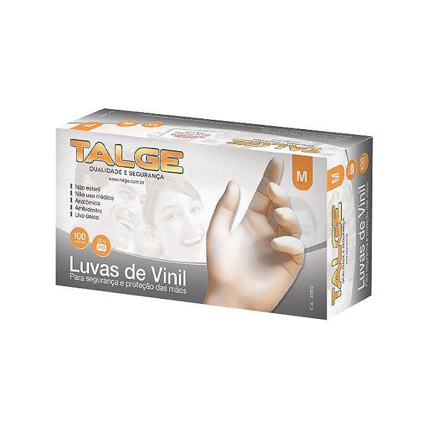 Talge Luva Vinil M C/ 100 un.