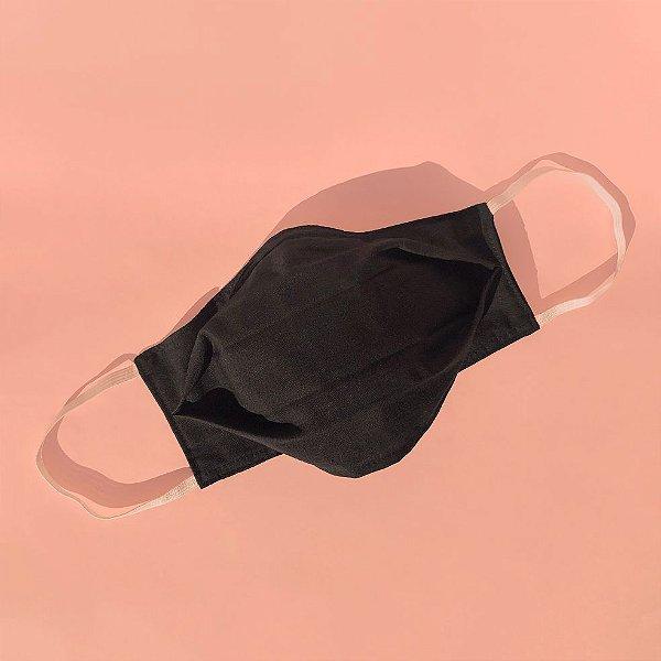 Máscara de tecido 100% algodão - Preta
