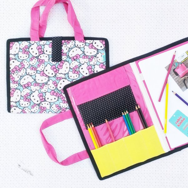 Maleta para desenho e pintura RABISKINHO estampa Hello Kitty