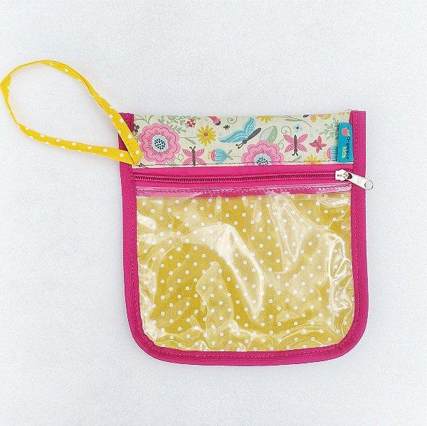 Porta Kit higiene escolar estampa Borboleta