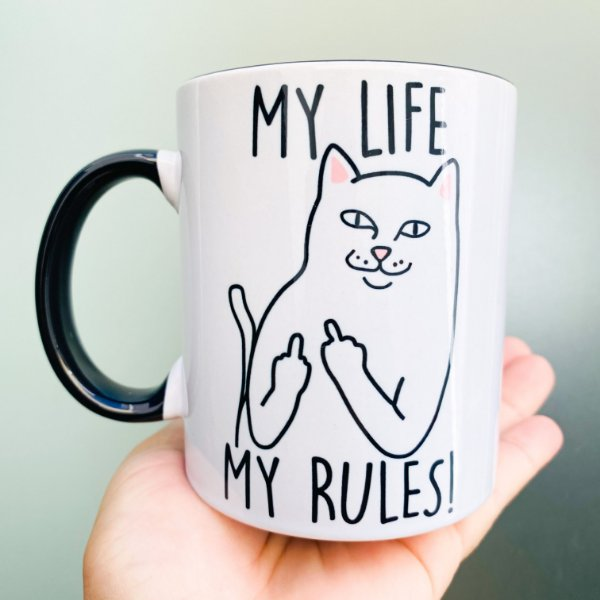 Caneca - My Life My Rules ( minha vida, minhas regras)