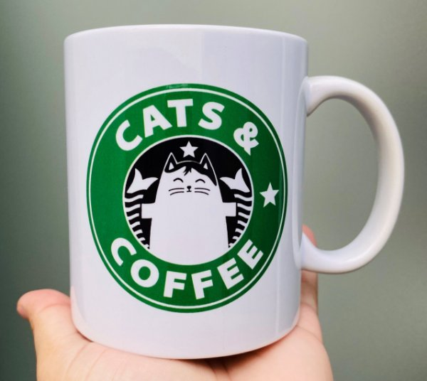 Caneca  Cats & Coffee